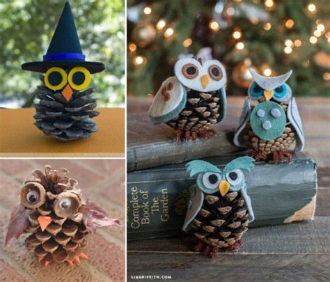 diy owl crafts snowy owl pinecone craft an easy diy pinecone owl and pine cone