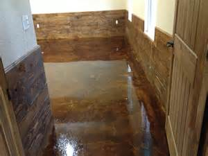 stained concrete floors living