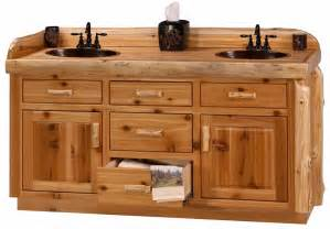 custom cedar log 54 quot 72 quot rustic bathroom vanity the log