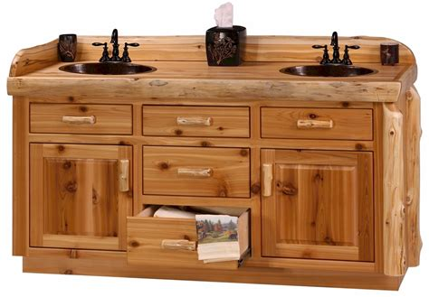 custom double sink bathroom vanity custom cedar log 54 quot 72 quot rustic bathroom vanity the log