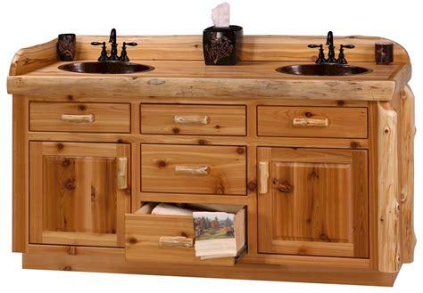 Log Bathroom Vanity by Rustic Woodland Cottage Cedar Log Vanity Log Bathroom
