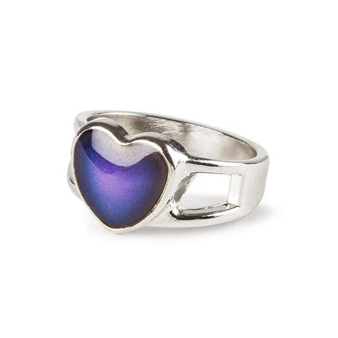 mood rings at claire s images frompo 1 mood heart silver open band ring claire s us