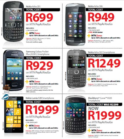 mtn prepaid deals august 2013 from r139 phone prices compared compare cell phone plans data
