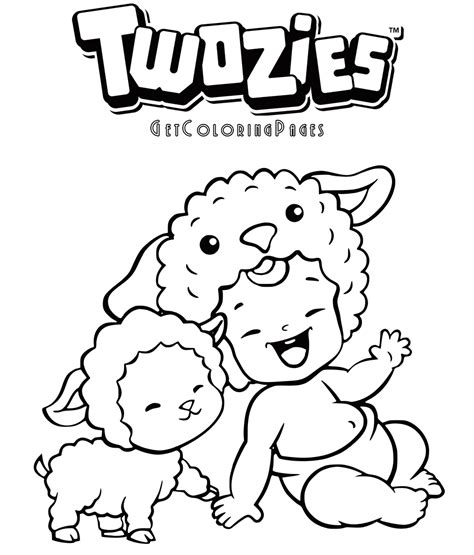 Mini Mixie Q Coloring Pages twozies coloring page woolbur and woolsin get coloring pages