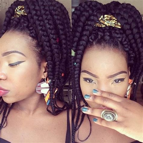 big braids pony hair style 42 best big box braids styles with images beautified designs