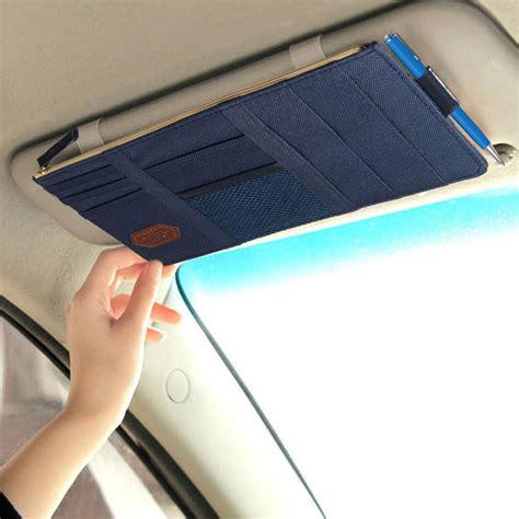 Car Sun Visor Bag Organizer navy blue car sun visor card package holder storage