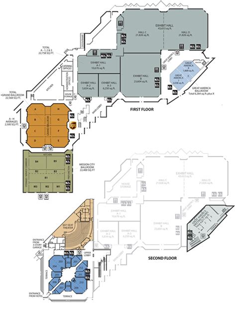 convention center floor plans floor plans tour convention center santa clara