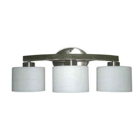 how to replace bathroom vanity light shop allen roth merington 3 light 9 in brushed nickel