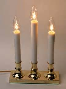 3 light electric candle l with brass base lighting