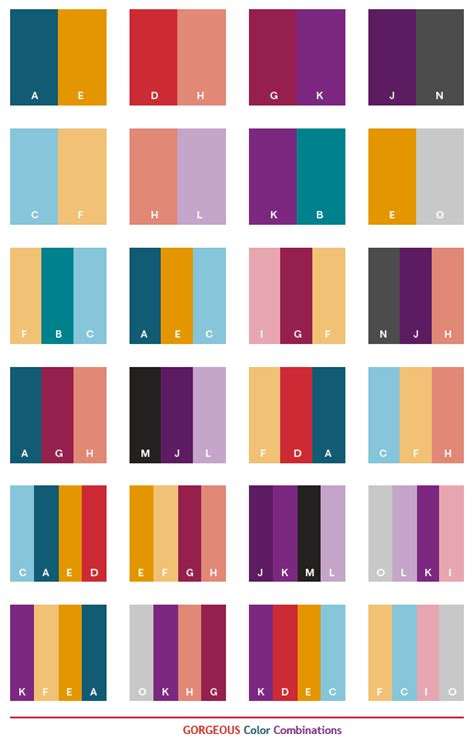 colour combos gorgeous color schemes color combinations color palettes for print cmyk and web rgb html