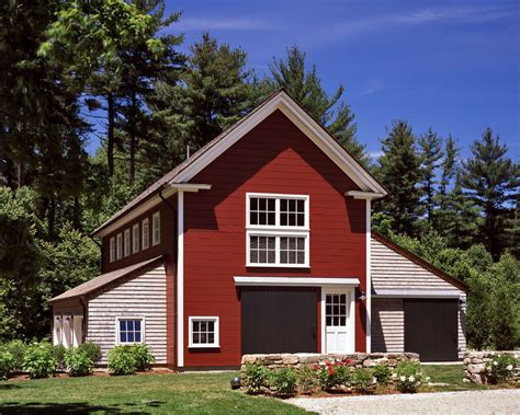 Pole Barn House Plans Shed Traditional With Outdoor Lighting Large Brown Door