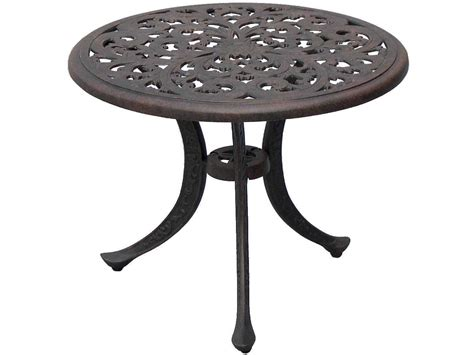aluminum accent table darlee outdoor living series 80 cast aluminum antique