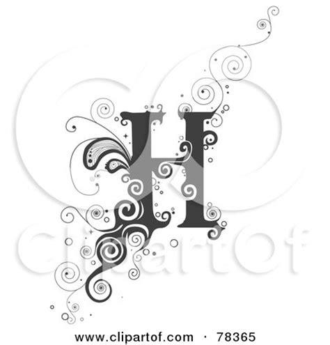 Royalty-Free (RF) Clipart Illustration of a Vine Alphabet ... H Alphabet Designs