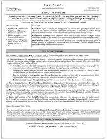 Executive Summary Resume Sles by Executive Summary Dynamic Resumes Of Nj