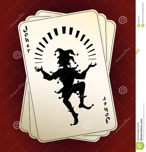 deck of cards joker black vector joker silhouette on a or deck of