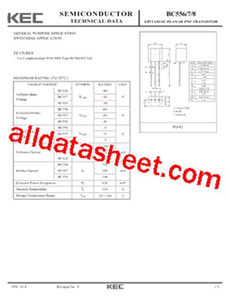 kaki transistor bc557 transistor bc557 pdf 28 images bc557 datasheet transistor switching and af lifier high