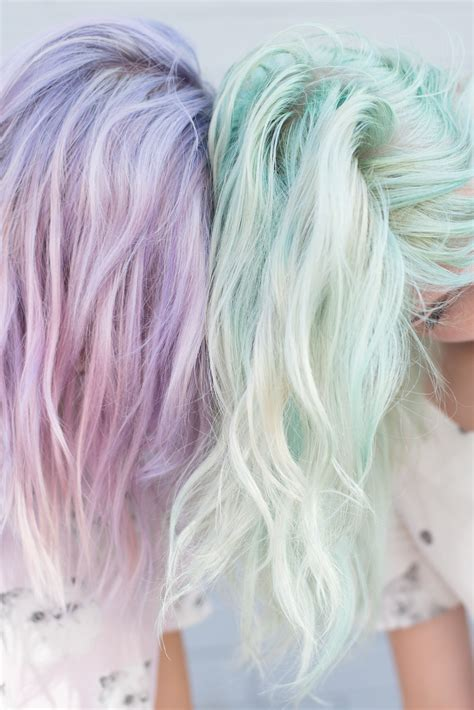 pastel hair colors for women in their 30s pastel lavender and mint on pinterest