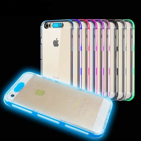 light up mobile phone case led light up tpu clear mobile cell phone case cover for