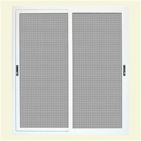 Security Patio Screen Doors Unique Home Designs 72 In X 80 In White Surface Mount Sliding Patio Security Door With Meshtec