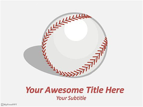 free baseball powerpoint template free sports powerpoint templates themes ppt