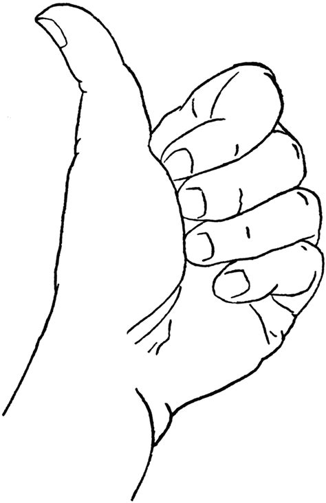 coloring page thumbs up up pictures az coloring pages coloring page thumbs up in