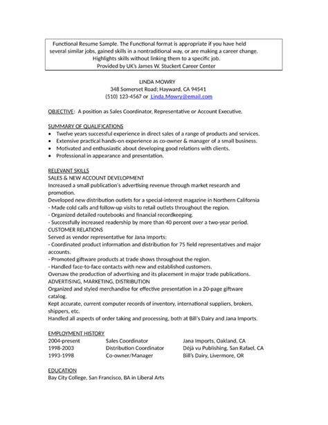professional account representative resume template