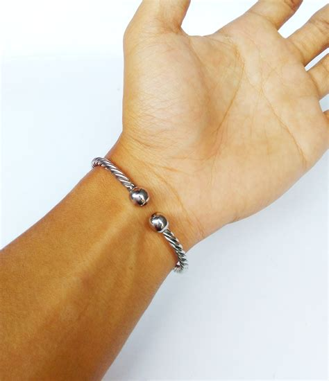 Gelang Papua Rajut Slim Pria Wanita jual gelang pria monel silver stainless steel made gelang papua m e ringstone