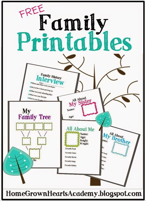 printable family tree free family tree printables and ideas