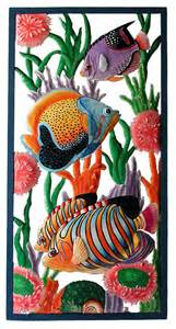 Tropical Fish Home Decor by Metal Art Tropical Fish Wall Hanging Outdoor Wall Art Hand