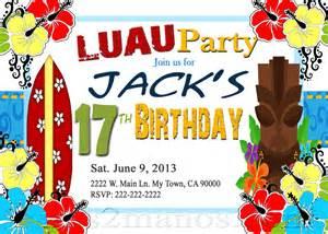luau invitations diy custom printable aloha print at