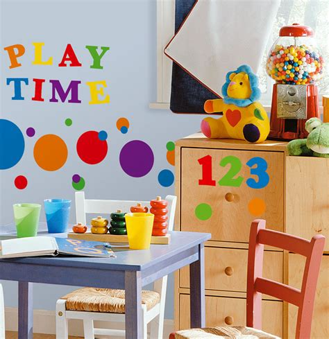Blackboard Stickers For Walls colorful polka dots wall art colorful kids rooms