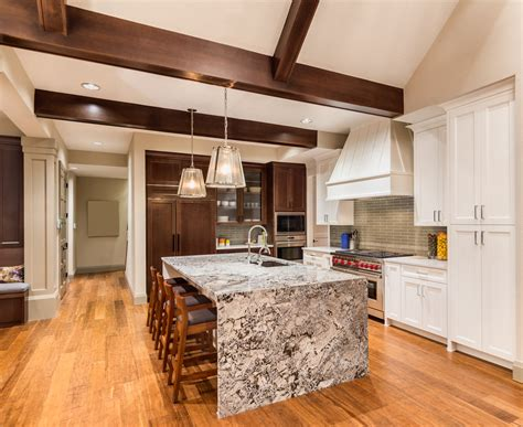 kitchen islands with granite countertops 2018 28 cool waterfall kitchen island ideas 2019 photos