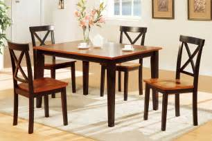 Dining Room Desk 5 Piece Two Tone Dining Set Includes Chairs Huntington