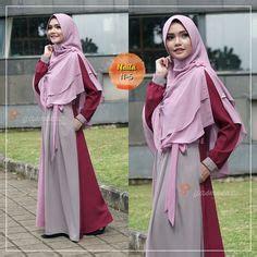 Valisha Squari Dress Muslim Navy ps and hijabs on