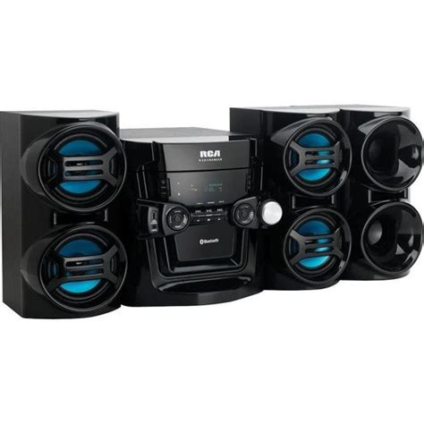 5 Cd Stereo Shelf System by Rca Rs3965sb 5 Disc Cd Player Radio Bluetooth Home Stereo