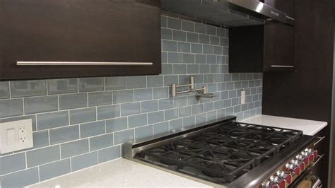 Jasper Blue Gray 3x6 Glass Subway Tiles ? Rocky Point Tile