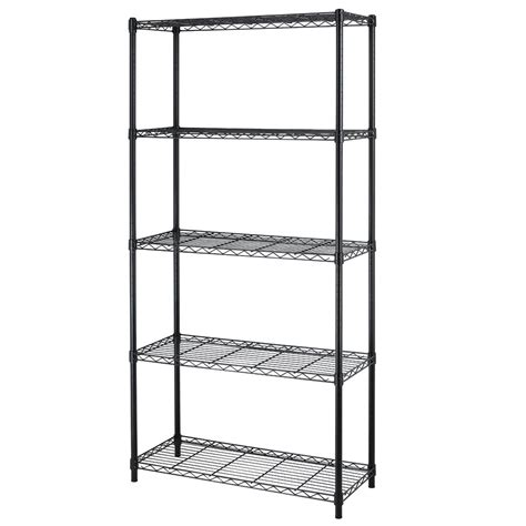 5 shelf adjustable steel wire metal shelving rack sale 39 99