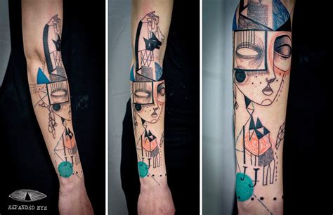 cubism tattoo these tattoos are pieces of but it s the story they
