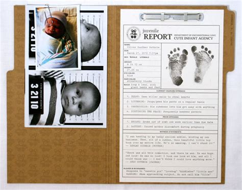 Criminal Files Oliver S Cia Themed Birth Announcements Invitation Crush