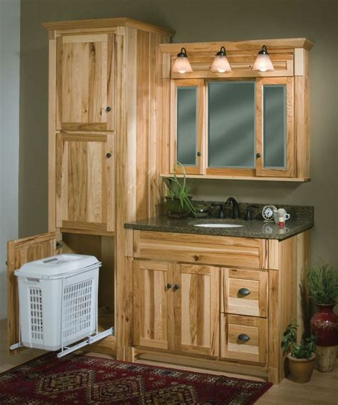 Hickory Vanity Cabinet by Woodpro Cabinetry Heirloom Collection 42 Quot Vanity Ensemble With Matching Linen Cabinet With
