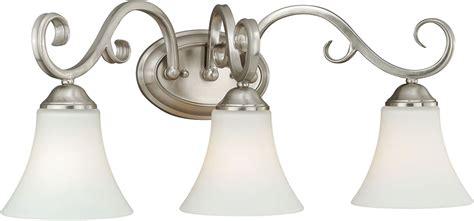 satin nickel bathroom light fixtures vaxcel w0198 belleville satin nickel 3 light bathroom