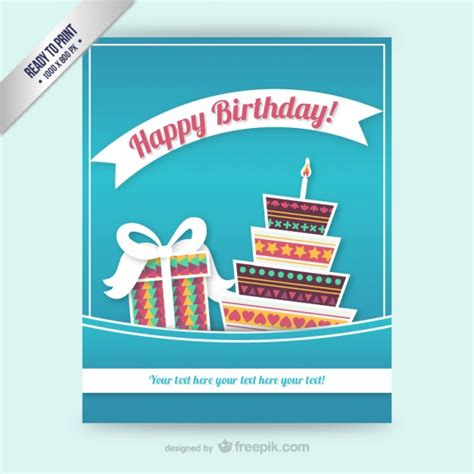 birthday card template free vector cmyk birthday card template vector free