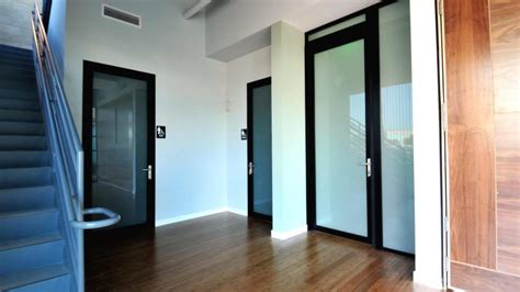 commercial restroom entry swing door project space