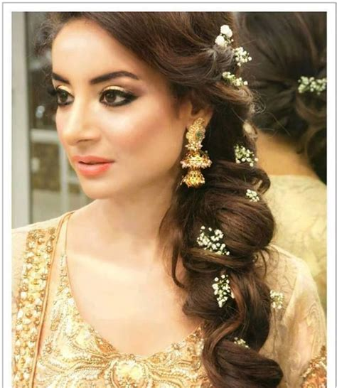 Engagement Hairstyles Pakistani Images | latest pakistani bridal wedding hairstyles trends 2018