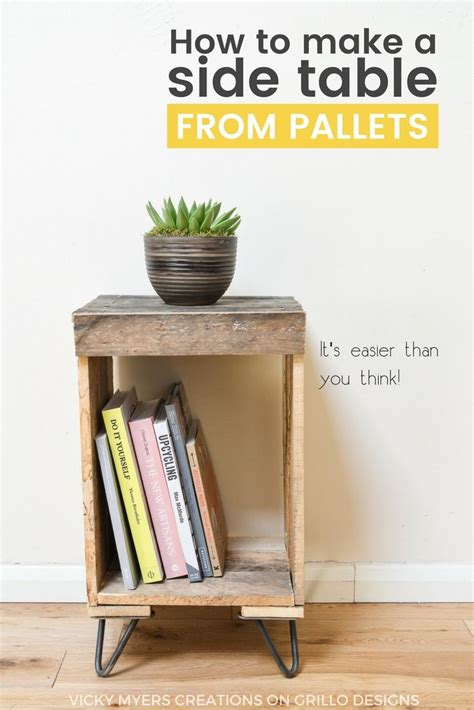 How To Make A Nightstand by Best 25 Pallet Side Table Ideas On Diy Living