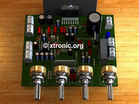 Ic Tda7388 By Bakul Elektronik circuit power audio lifier with tda7377 2 1 xtronic