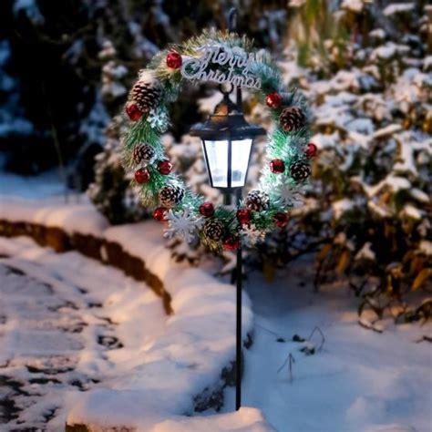 Gartendeko Weihnachten Led by Solar Led Gartenstecker Winter Welcome G 228 Rtner P 246 Tschke
