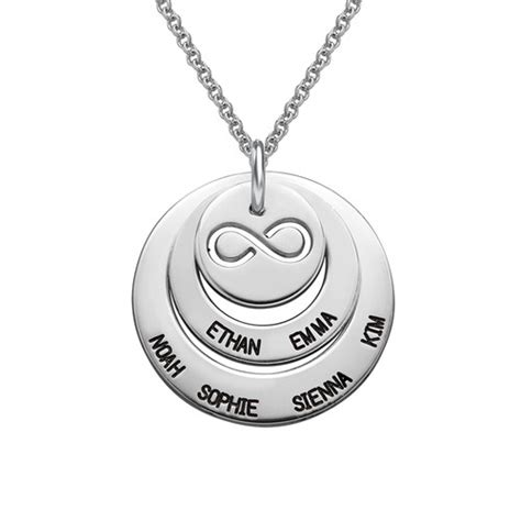 family with infinity symbol personalized family necklace with infinity symbol