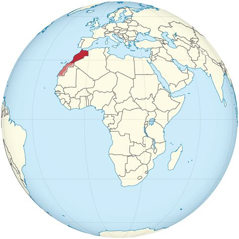 world map of morocco location of the morocco in the world map