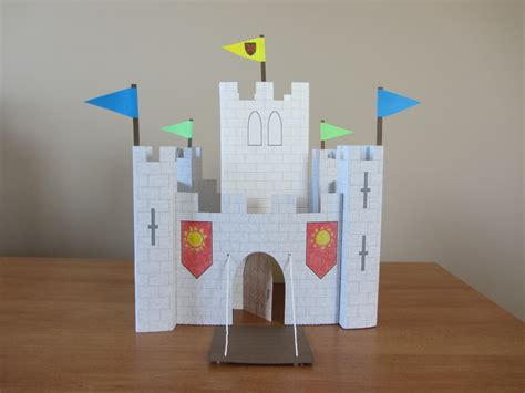 How To Make A 3d Paper House Step By Step - part 2 of paper castle instant template for keep and
